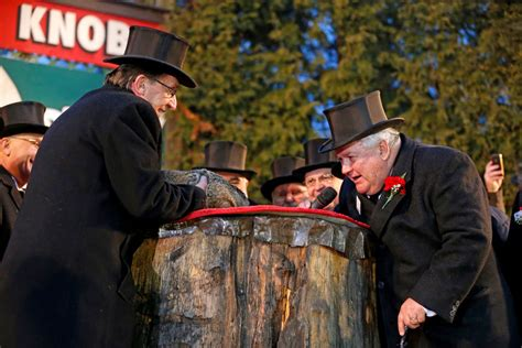 Punxsutawney Phil Gobblers Knob by Groundhogs Across The Country Make Their Predictions The Eye