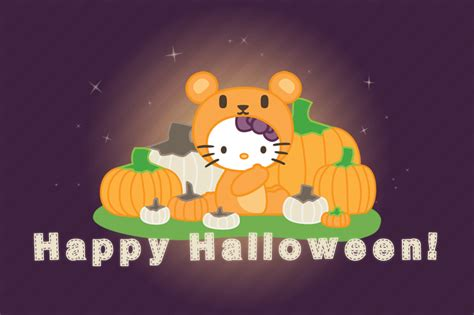 hello kitty autumn wallpaper hello kitty x halloween and autumn by hunnyflash on deviantart