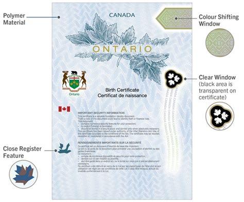 long version birth certificate ontario ontario new polymer birth certificates all ontario