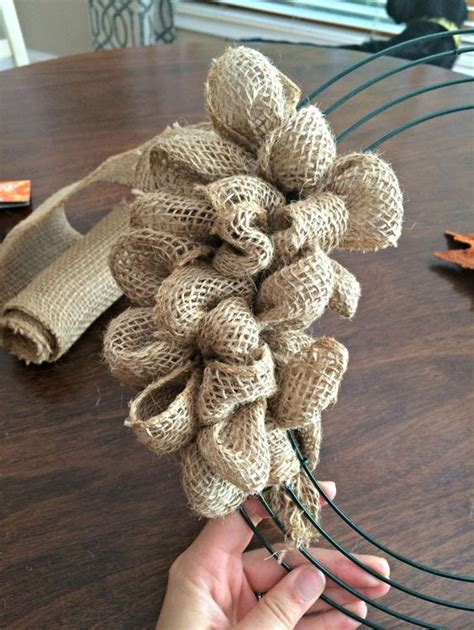 how to make a wreath with burlap how to make a fall burlap wreath beautiful