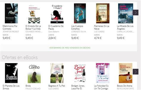 el corte ingles libros electronicos 6 mejores tiendas online de ebooks los6mejores