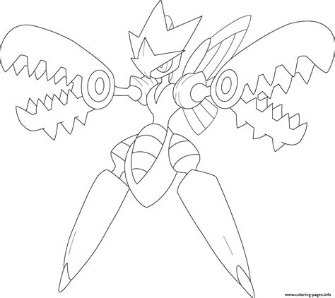 coloring book pages info mega scizor coloring pages printable