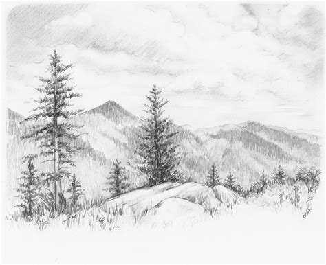 Pencil Drawing Pictures Of Nature Drawing Pictures Landscape Drawing Ideas