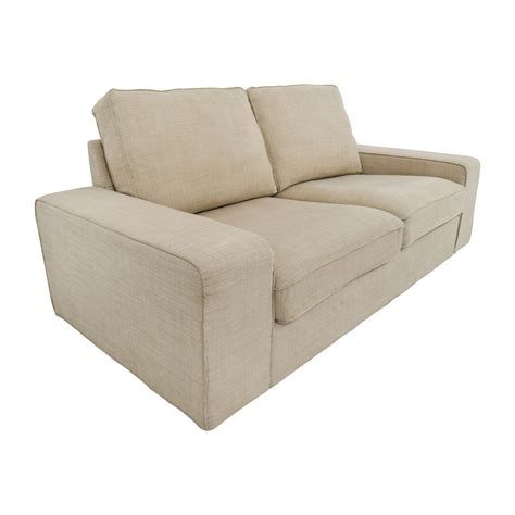 fabric loveseats 68 off ikea light beige fabric loveseat sofas