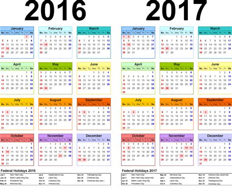 Printable Yearly Calendar 2017 With Holidays 2016 Yearly Calendars With Holidays Activity Shelter