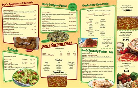 11 pizza menu design images best pizza menu design