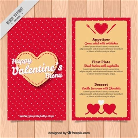 valentines cards for size bar template colorful menu template vector free