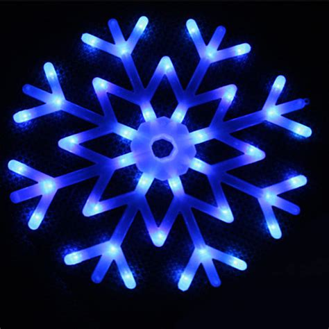 40 Led Colorful Snowflake Fairy Lights String Curtain Snowflake Light String