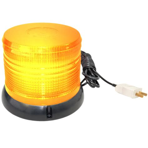 magnetic strobe lights hqrp ac 110v emergency warning led strobe light beacon flash magnetic base ebay