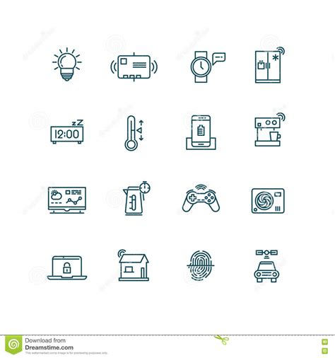 automation concept icons set vector illustration