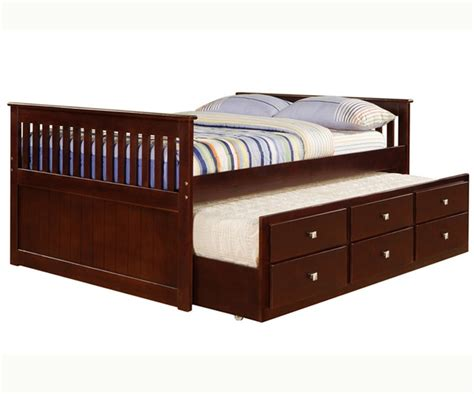 full size trundle bed mission full size captains trundle bed cappuccino