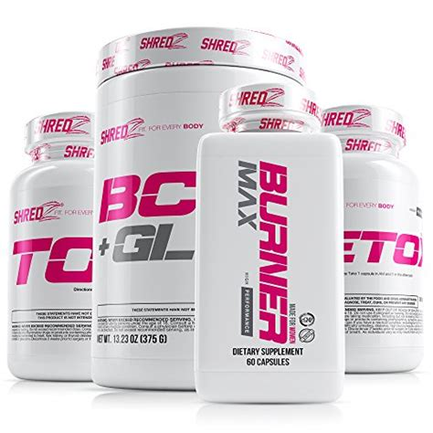 Burner Max Detox Reviews by Shredz 30 Day Weight Loss Results Supplements Stack For