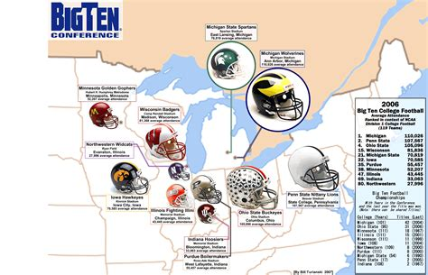 big ten map ncaa fb big ten 171 billsportsmaps