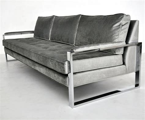 Steel Frame Sofa by Milo Baughman Chrome Frame Sofa Couched Sofa Frame