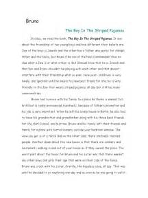 Boy In Striped Pyjamas Essay by The Boy In The Striped Pajamas Essay