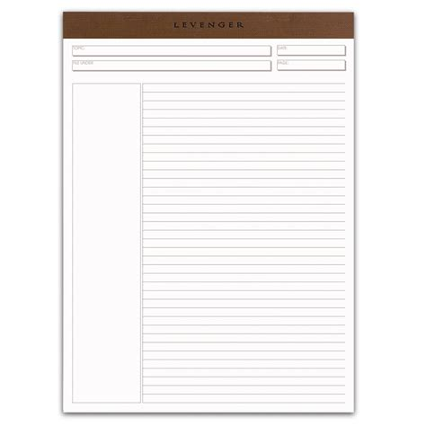pad paper template freeleaf white annotation ruled pads letter paper