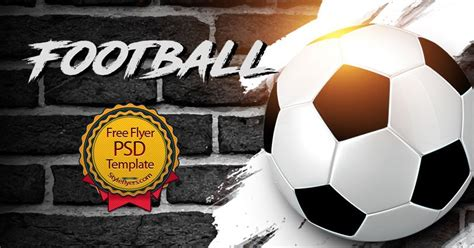 Football Free Psd Flyer Template Free Download 11360 Styleflyers Football Template Psd