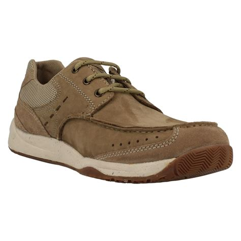 mens clarks casual lace up shoes allston edge