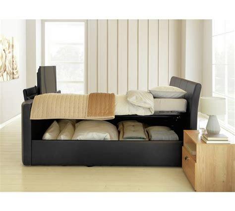 Bedroom Tv Ottoman Buy Hygena Lamberto Kingsize Tv Ottoman Bed Black At