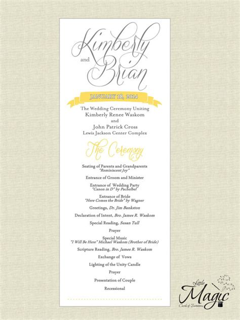 printable diy wedding reception programs wedding