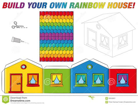 we buy houses website templates paper model house template rainbow colors stock vector illustration of template