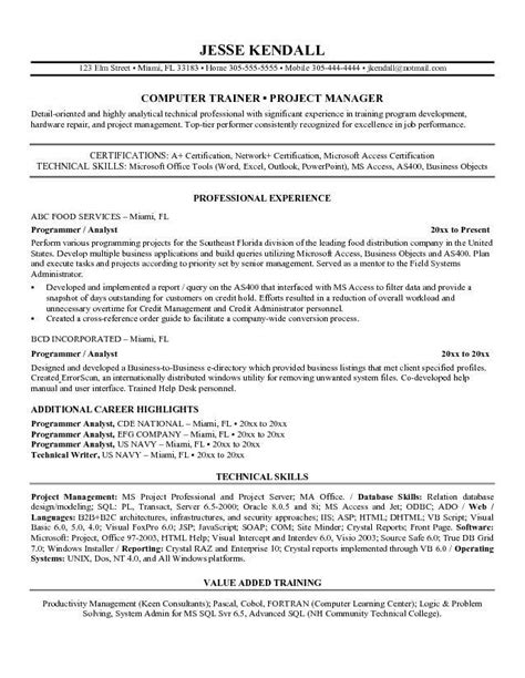as400 programmer analyst resume