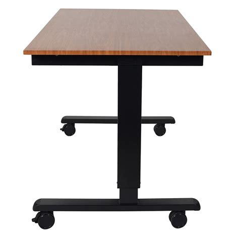 Modern Stand Up Desk Malibu 48 Quot Modern Stand Up Desk Black Teak Eurway