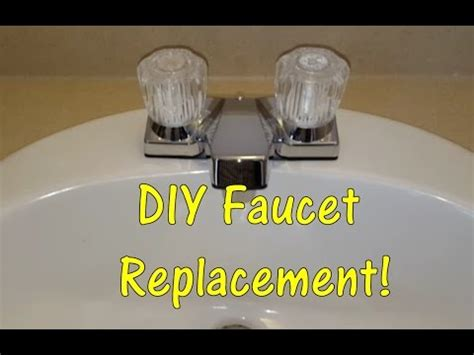 replace sink faucet bathroom diy how to replace a bathroom sink faucet remove replace install