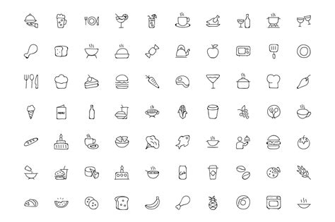 doodle food icons 300 food doodle icons creative stall
