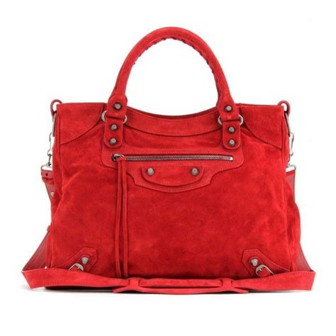 Guess Who The Balenciaga Handbag by Balenciaga Classic Velo Suede Tote Found On Polyvore Top