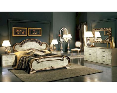 platform bedroom set empire classic style   italy