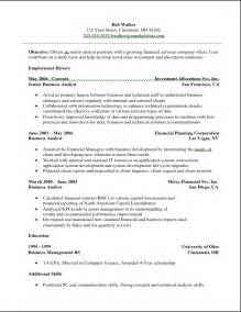 Additional Skills Resume Exles by Analyst Resume Analyst Resume Sle
