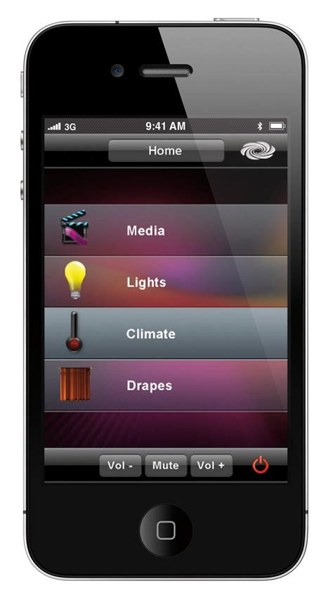 control lights with iphone iphone drape climate and light control interface global