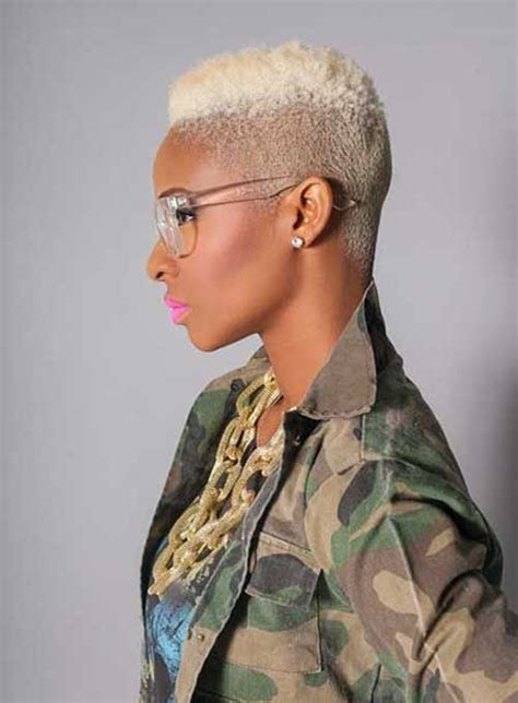 african dyed short hair 15 short blonde hairstyles for black women short