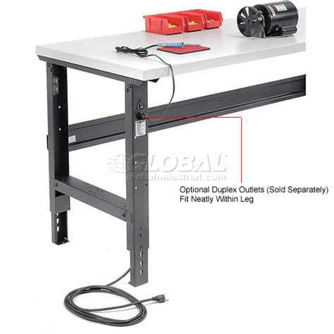 adjustable work benches open leg work bench adjustable height 60 quot w x 30 quot d
