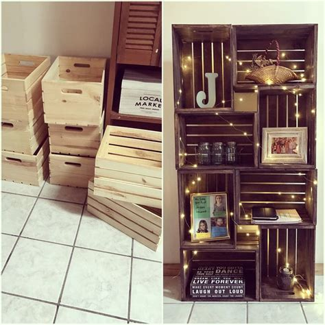 best 25 crate bookshelf ideas on wood crate