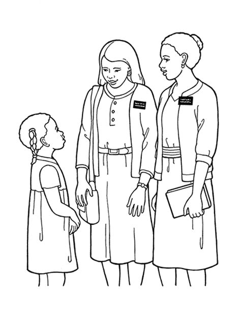 lds sister missionary coloring pages coloring pages