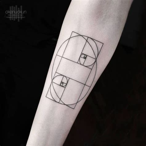 golden ratio tattoo 40 geometric designs for and fibonacci