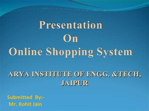 ppt templates for online shopping free download online shopping ppt by rohit jain