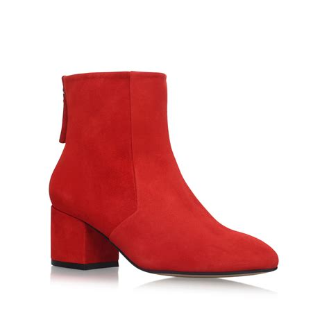slim carvela slim suede low heel ankle boots by