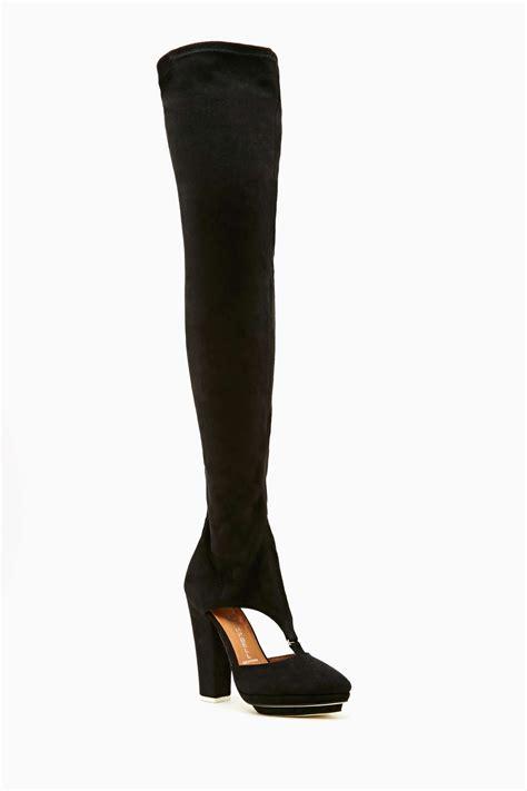 gal thigh high boots gal jeffrey cbell avril thigh high boot in black