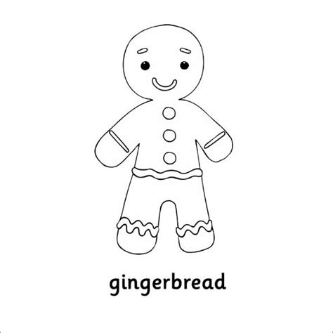 gingerbread man blank coloring page 15 gingerbread man templates colouring pages free