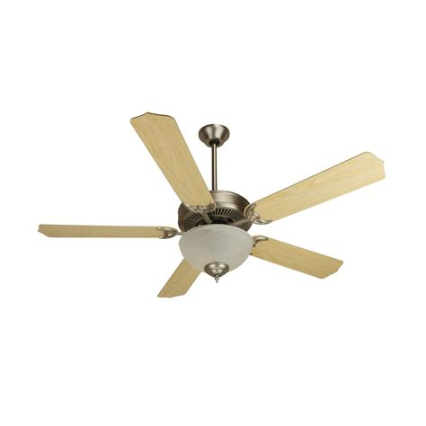 craftmade fan light kit craftmade 52 inch ceiling fan in brushed nickel with