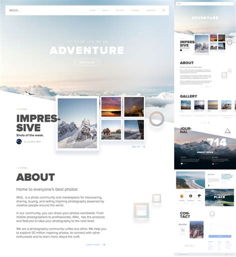 Wild Free Adventure Website Template For Sketch Freebiesui Sketch Website Template Free
