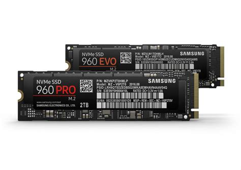 samsung 960 evo 960 pro ssds the product details