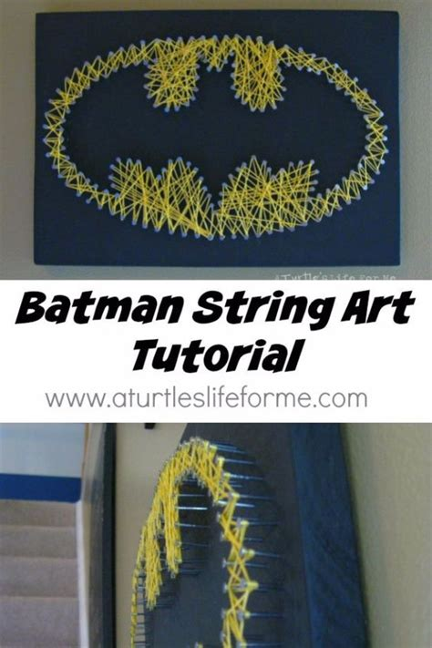 Batman String Pattern - 40 insanely creative string projects creative diy