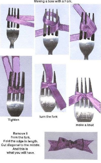 tutorial reben organza making small bows with a fork ipinnedit