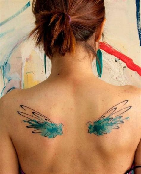 colored wings tattoo tattoos on watercolor tattoos and