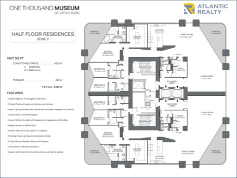 museum floor plan 1000 museum new miami florida beach homes