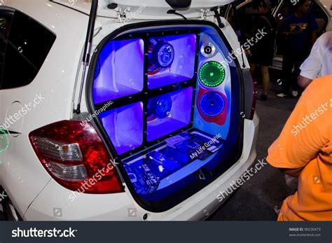 bangkok december 4 car audio show installation in honda
